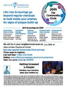 Life Line Health Screenings @ Zion United Church of Christ