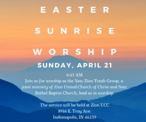 Youth Led Easter Sunrise Worship