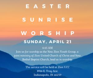 Youth Led Easter Sunrise Worship