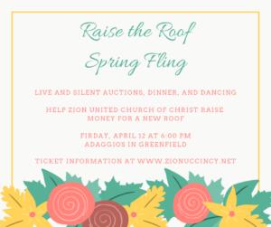 Raise the Roof Spring Fling @ Adaggios
