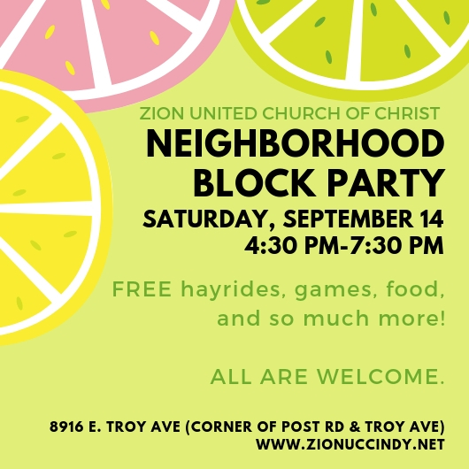 block party SAVE THE DATE social media