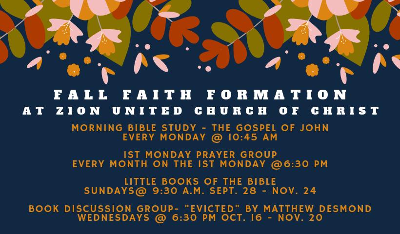 2019 fall faith formation