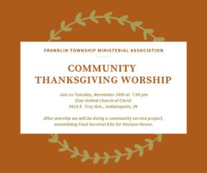 Community Thanksgiving Worship