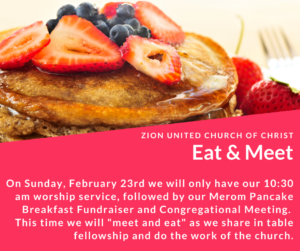 Pancake Breakfast and Congregational Meeting