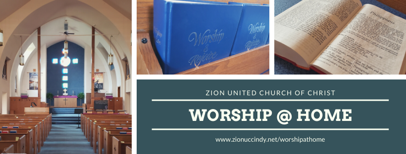 worship at home bulletin banner small